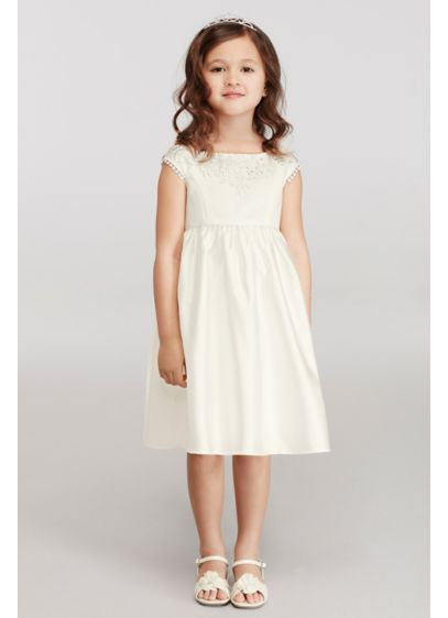 Short A-Line Cap Sleeves Communion Dress - David's Bridal