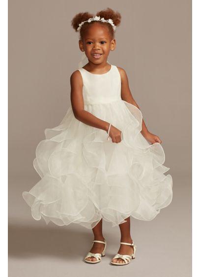 Organza Ruffle Skirt Flower Girl Dress - She'll love the twirl-factor of this statement flower