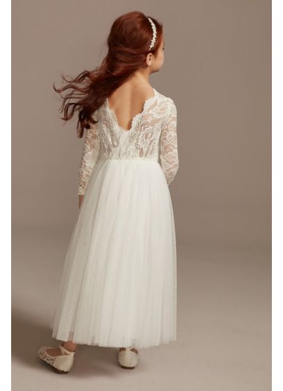 Long A-Line Long Sleeves Dress - David's Bridal