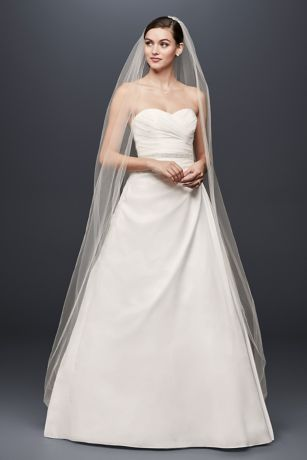 fe27dc5e7 Taffeta A-Line Wedding Dress with Sweetheart Neck
