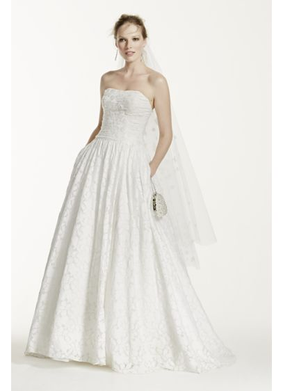 f38896aa2fc Lace Ball Gown with Intricate Embroidered Details