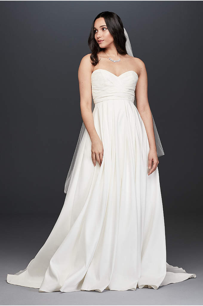 Pleated Strapless Wedding Dress with Empire Waist - One of the many beautiful things about this