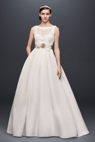 Open Back Wedding Dress with Beading and Pockets | David\'s Bridal