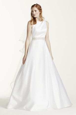 Long A Line Formal Wedding Dress   Davidu0027s Bridal Collection