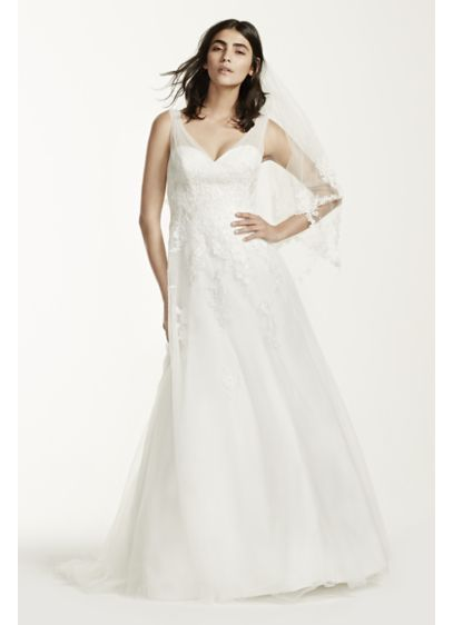 Tulle A Line Wedding Dress With Fl Lace