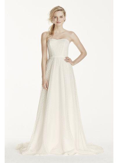 Long A-Line Beach Wedding Dress - Galina