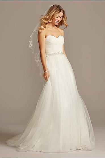 Strapless Sweetheart Tulle Wedding Dress