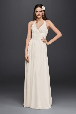 Halter Lace Wedding Dresses