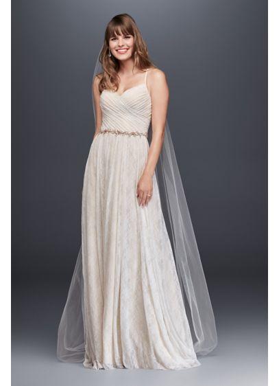 Long Sheath Beach Wedding Dress - Galina