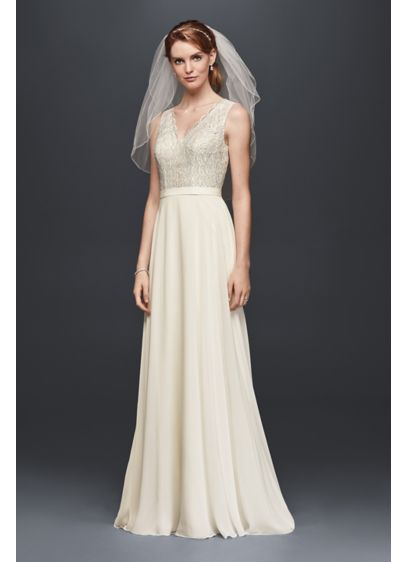 e83954298a7 Long Sheath Formal Wedding Dress - David s Bridal Collection