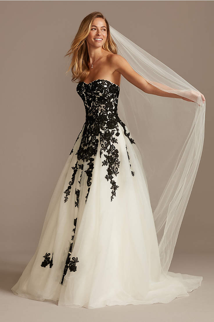 Black Wedding Dresses Gowns Plus Petite David S Bridal