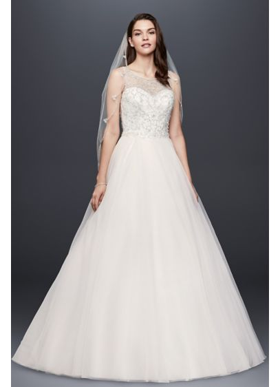 Beaded Organza Ball Gown Wedding Dress David S Bridal