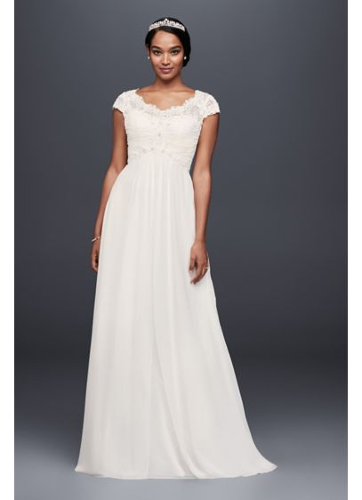 Long Sheath Country Wedding Dress - David's Bridal Collection