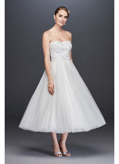Short Ballgown Formal Wedding Dress - David's Bridal Collection