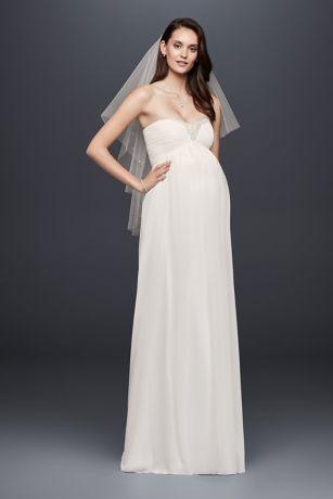 Long Sheath Formal Wedding Dress   Davidu0027s Bridal Collection