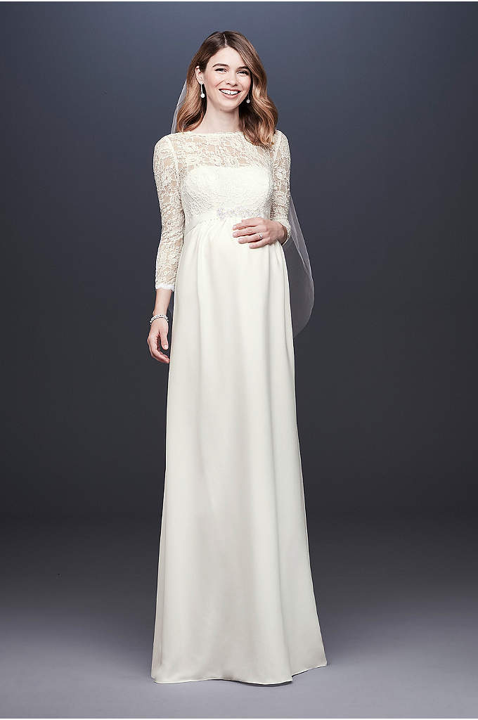 Long Sleeve Wedding Dresses & Gowns | David\'s Bridal