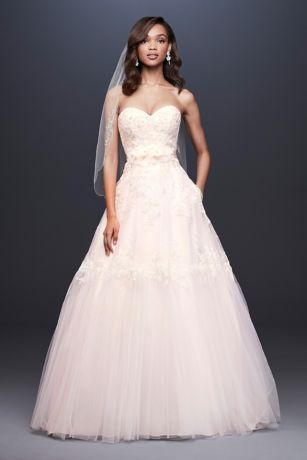 8869f1be8ca Long Ballgown Wedding Dress - David s Bridal Collection