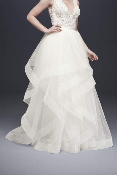 tiered wedding dress tiered tulle gown wedding skirt david s bridal 7997
