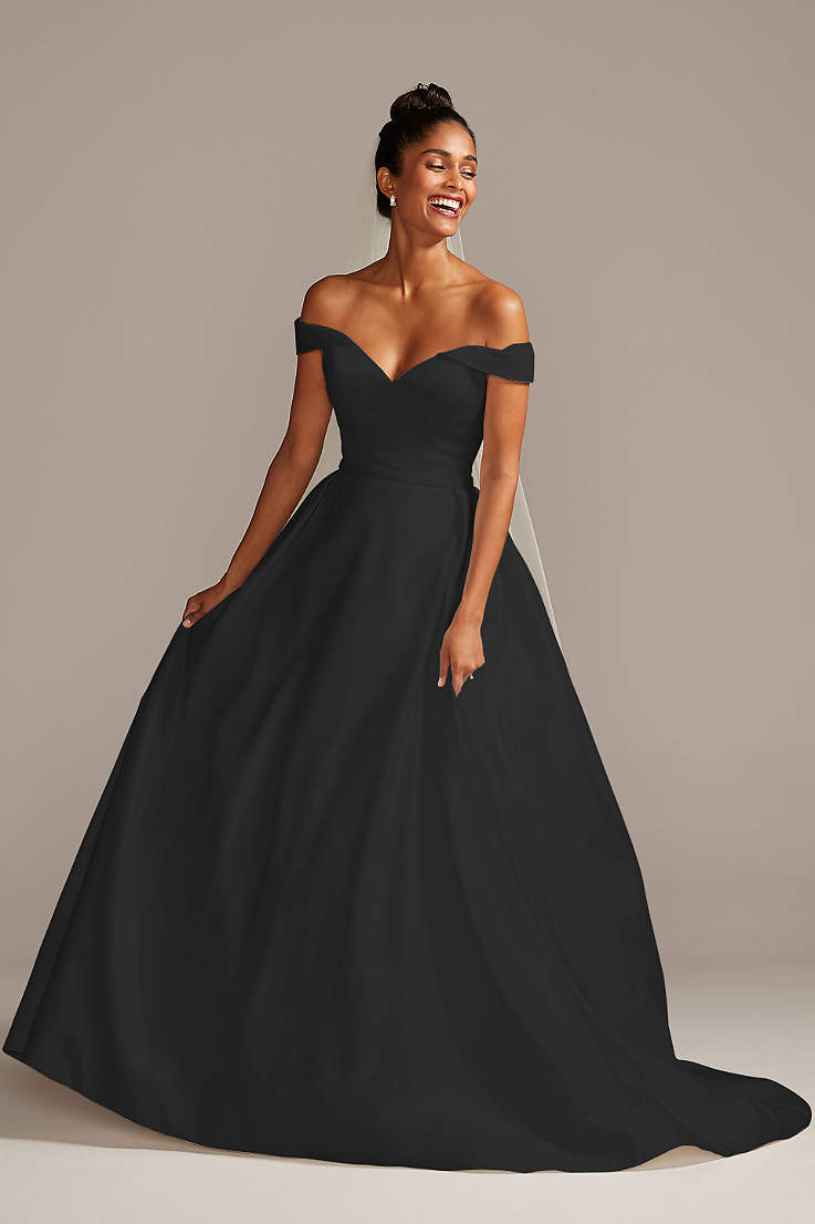 Black Wedding Dresses Gowns Plus Petite David S Bridal,Wedding Dresses In Stockton