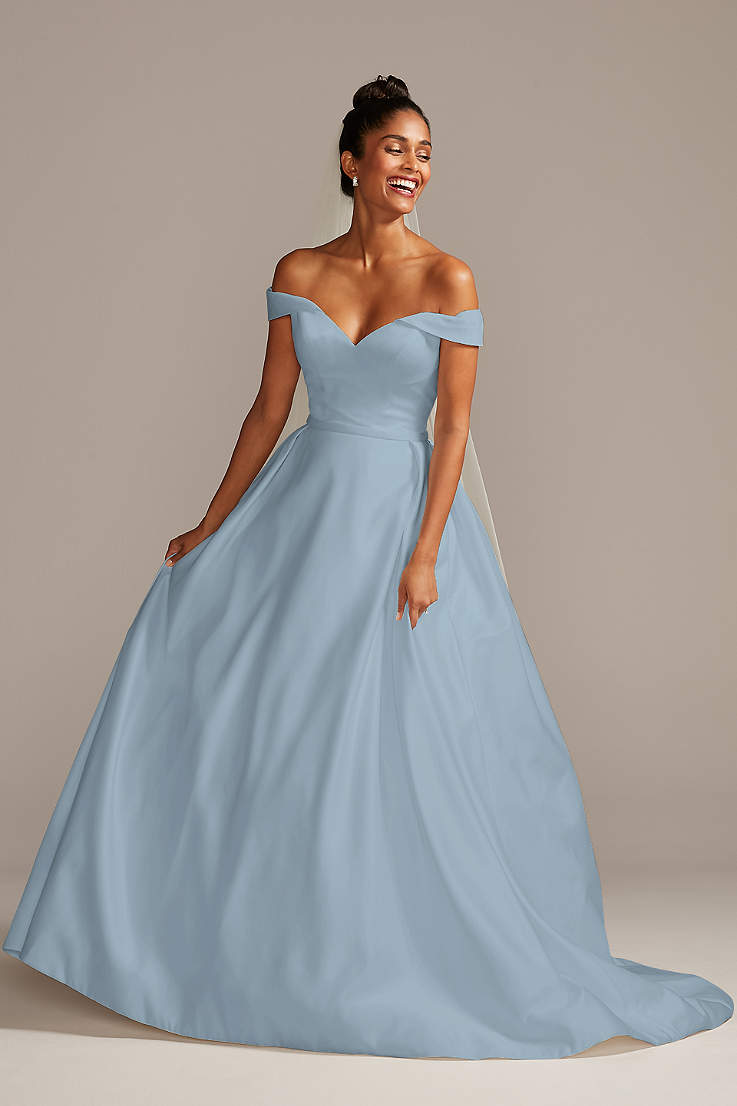 Blue Wedding Dresses and Gowns   David's Bridal