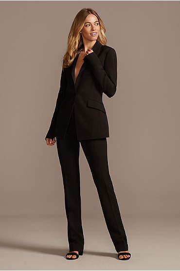 Single Button Relaxed Fit Suit Jacket