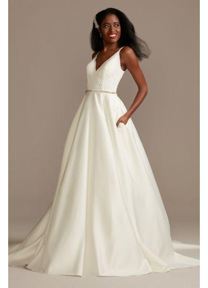 Long A-Line Country Wedding Dress - DB Studio