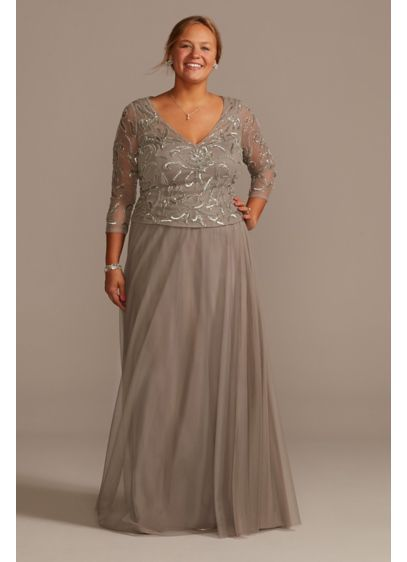 Long A-Line 3/4 Sleeves Mother and Special Guest Dress - David's Bridal
