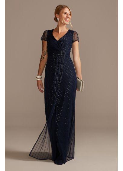 Long Sheath Short Sleeves Formal Dresses Dress -
