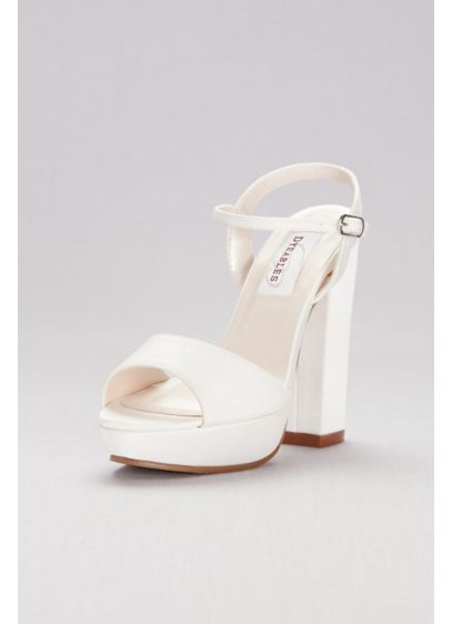 Dyeable Matte Satin Platform Sandals - This dyeable matte satin pair gets a lift