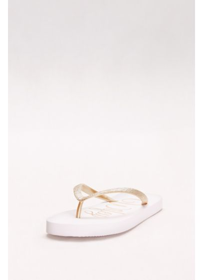 David's Bridal Yellow (Wifey Glitter Flip Flops)