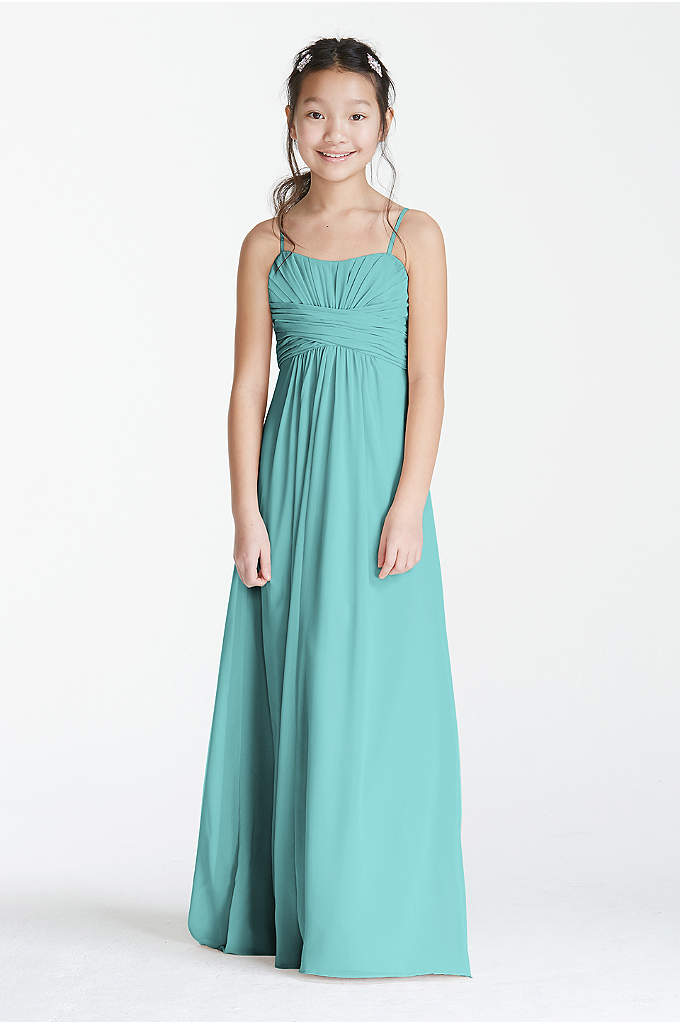 Long Chiffon Sweetheart Gown - Classy little gown for your junior bridesmaid! Chiffon