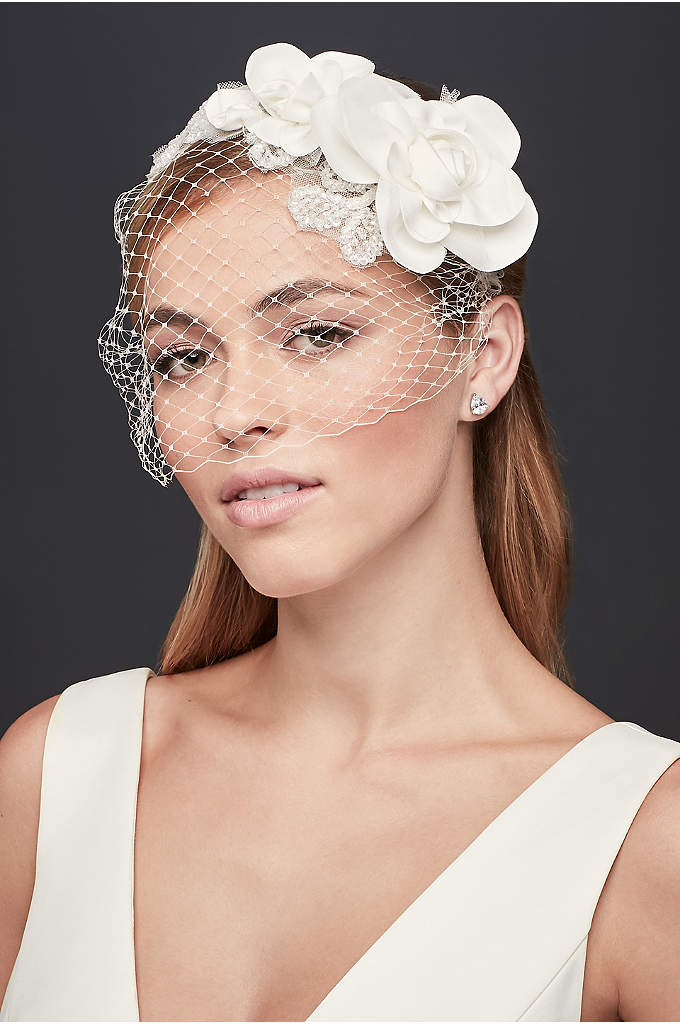 Rustic Floral Headband with Beading - Chic and on-trend, you'll make a bold statement