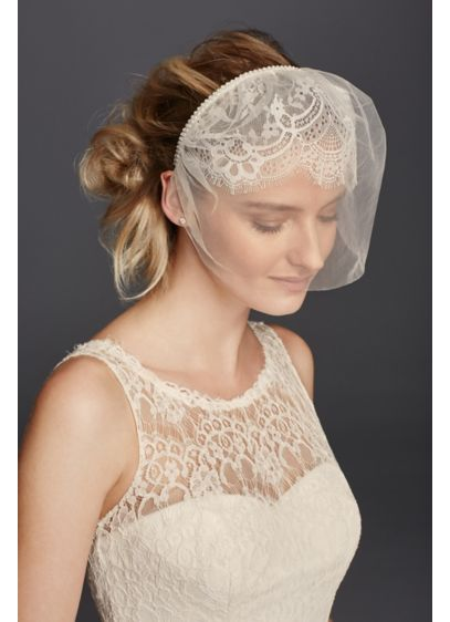 Lace and Tulle Headband Blusher - Wedding Accessories