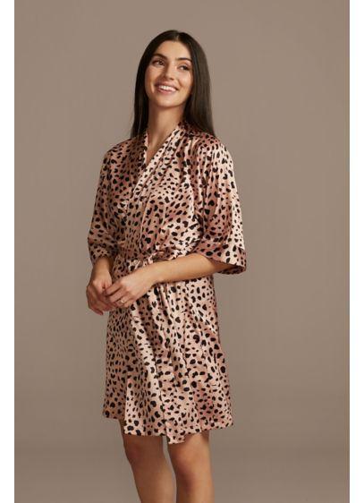 Cheetah Print Satin Robe - Wedding Gifts & Decorations