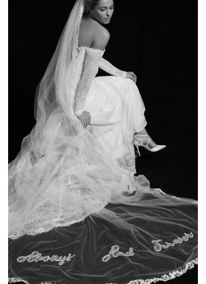 Ivory (Always and Forever Applique Cathedral Veil)