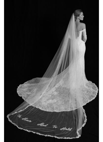 David's Bridal Ivory (To Have and to Hold Applique Cathedral Veil)
