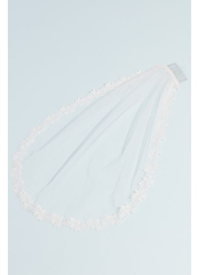 Lace-Trimmed Communion Veil - Wedding Accessories