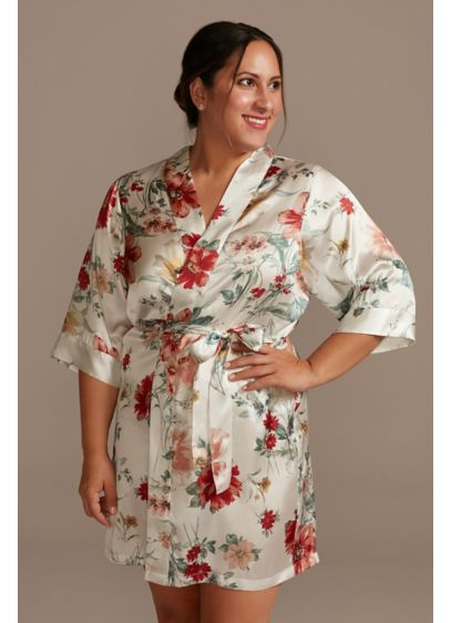 Floral Satin Getting Ready Robe - Wedding Gifts & Decorations