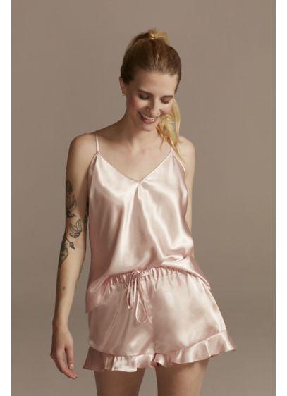 Satin Cami and Flutter Shorts Pajama Set - Wedding Gifts & Decorations