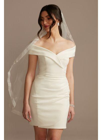 Organza Edge Mid-Length Veil - Wedding Accessories