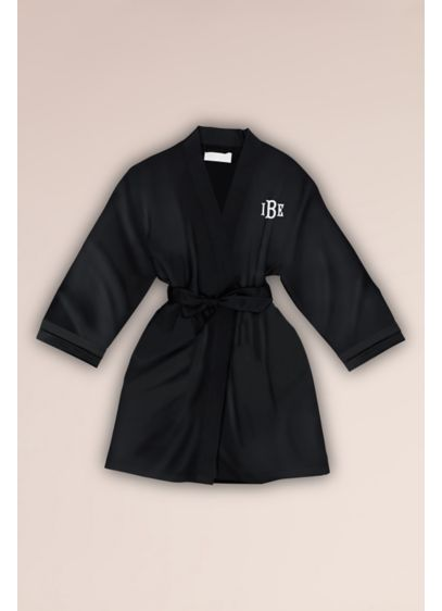 Embroidered Junior Bridesmaid Satin Robe - Perfect for your junior bridesmaid or a teen