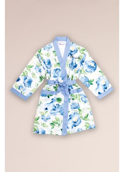 Personalized Junior Bridesmaid Floral Satin Robe - Any junior bridesmaid or teen is sure to