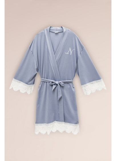 Junior Bridesmaid Embroidered Jersey and Lace Robe - Match your junior bridesmaid with the whole party