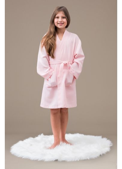 Child Embroidered Waffle Knit Robe - This cute waffle robe was made for the