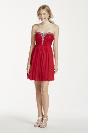 Short Dress with Rhinestones