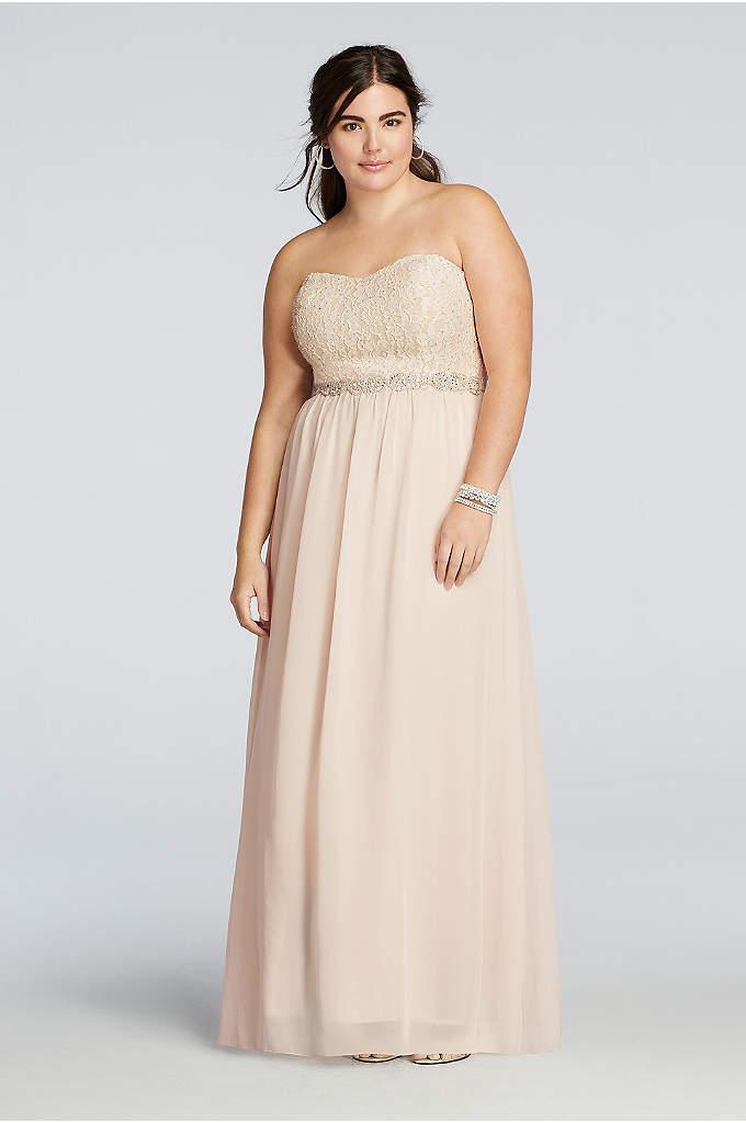 Chiffon Plus Size Prom Dress with Beading