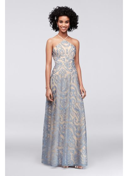 Long Ballgown Halter Cocktail and Party Dress - Speechless