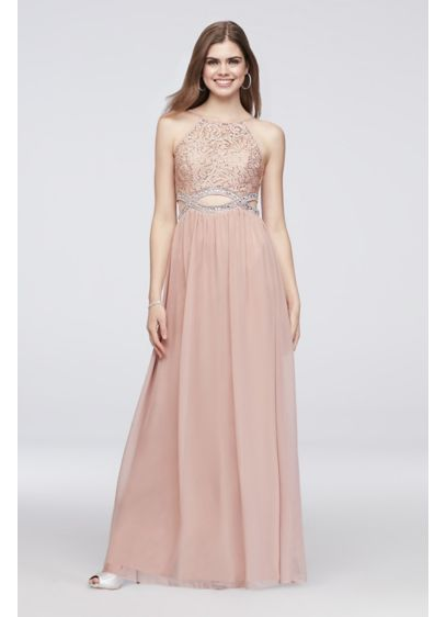 Speechless Pink (Sequin Lace and Infinity Cutout Chiffon Gown)
