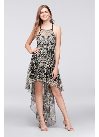 Embroidered Tulle Dramatic High Low Dress Davids Bridal