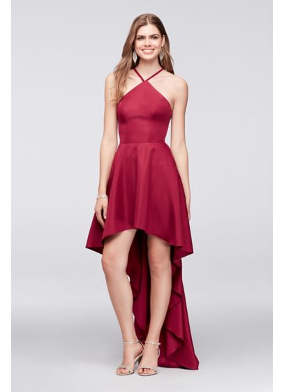 High Low A-Line Halter Cocktail and Party Dress - Speechless